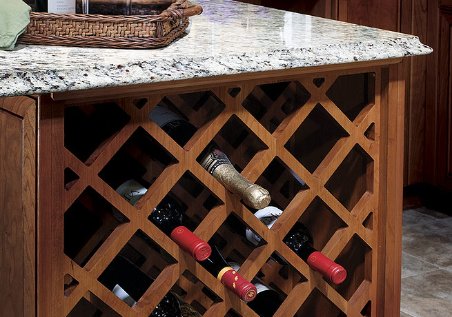 Base Cross-Hatched Wine Rack