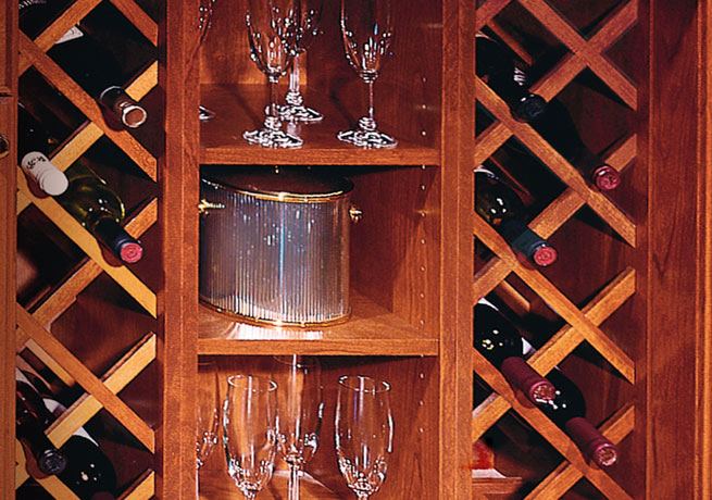 Cross-hatched Wine Rack