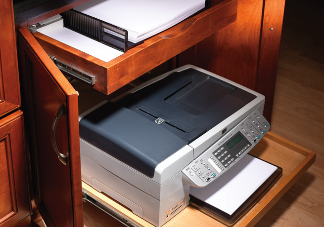 Desk Drawer Printer Cabinet