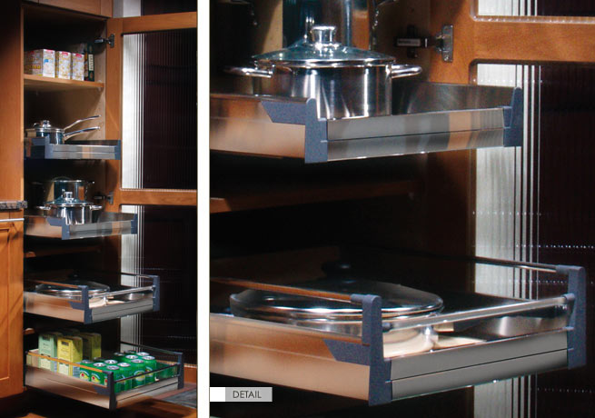 Stainless Steel Roll-out Shelf