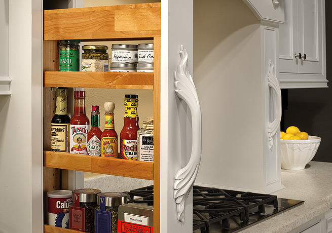 Wall Slide-Out Shelf
