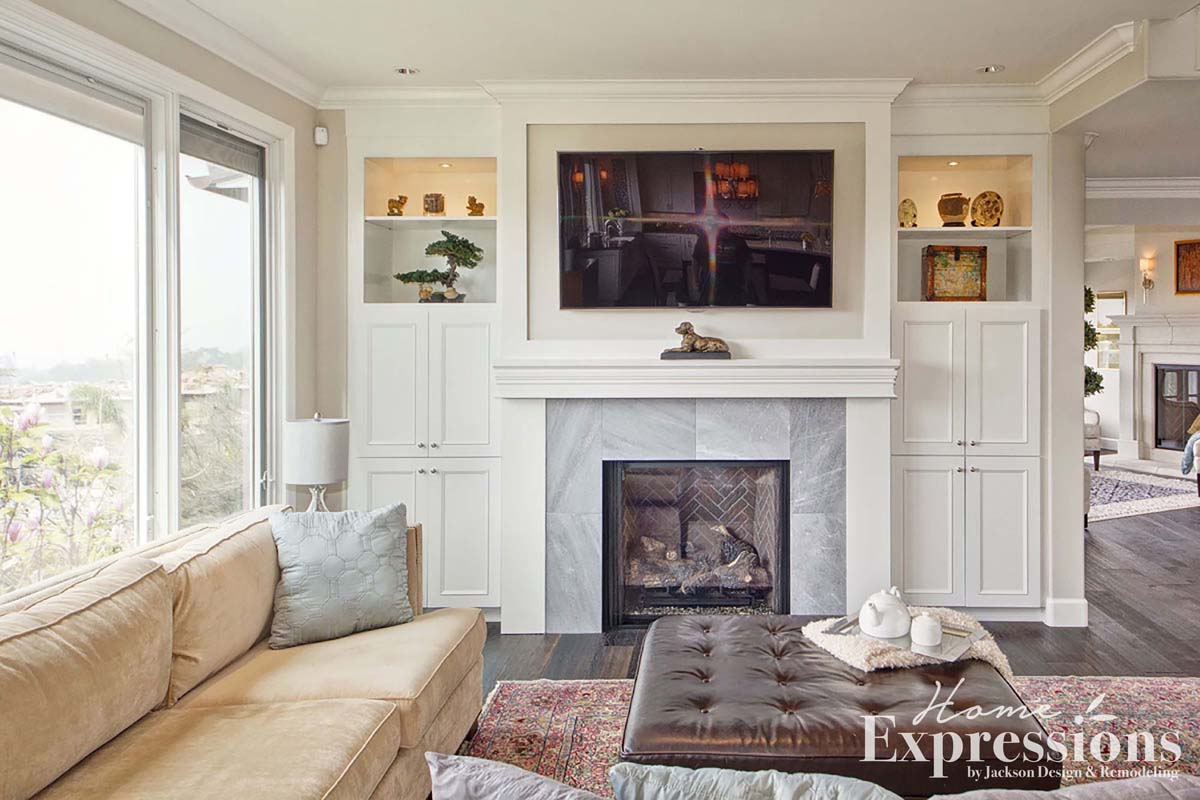 Fresh Elegance Fireplace Remodel in La Jolla | Home Expressions by ...