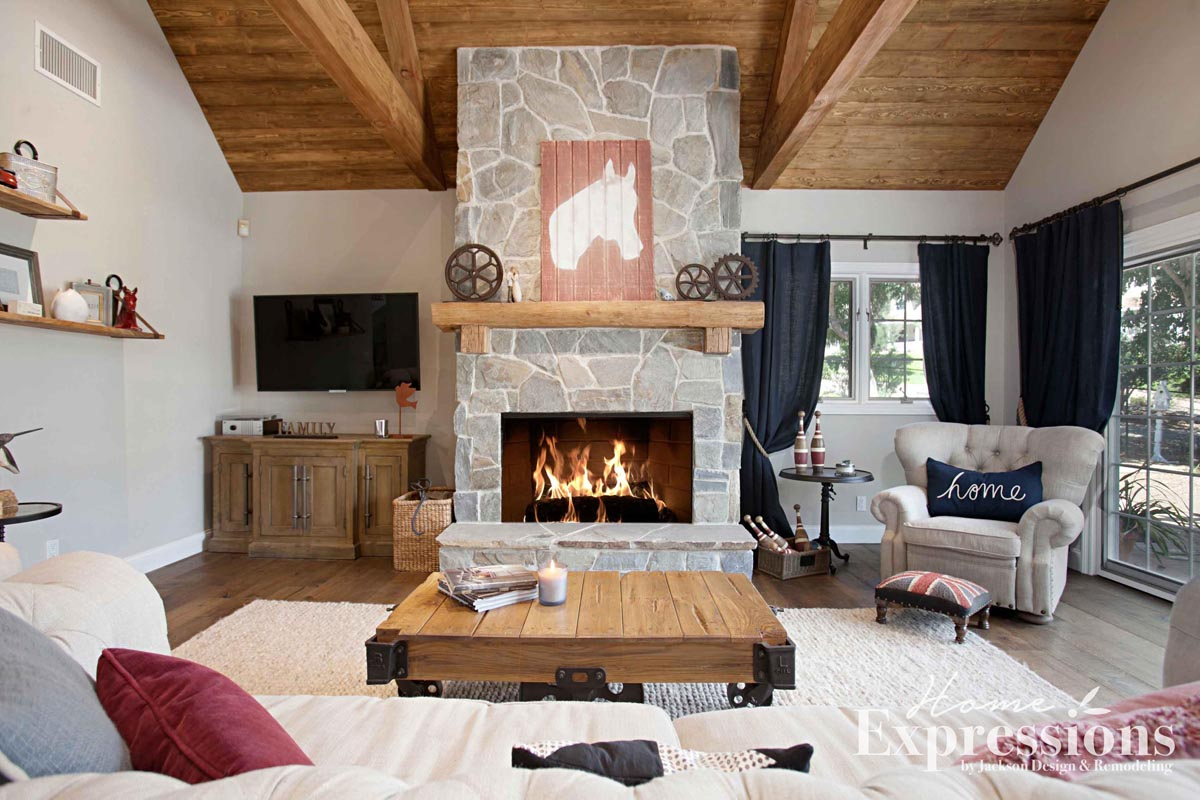 Modern Farmhouse Hearth Fireplace Remodel In Escondido