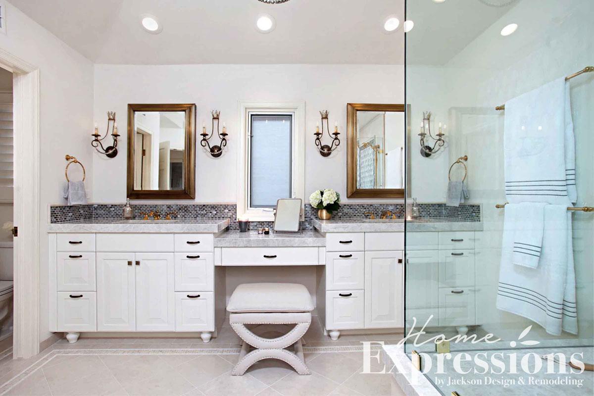 Moroccan Metallics Bathroom Remodel in La Jolla | Home Expressions ...