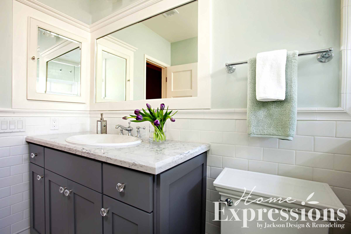 Vintage Mint Bathroom Remodel in La Jolla | Home Expressions by ...